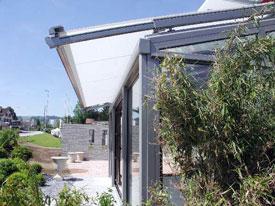 Alumium en glazen terrasoverkappingen van Solarlux, Weinor en Aliplast.